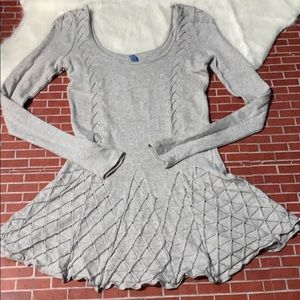 Free People Gray Long Sleeve Sweater